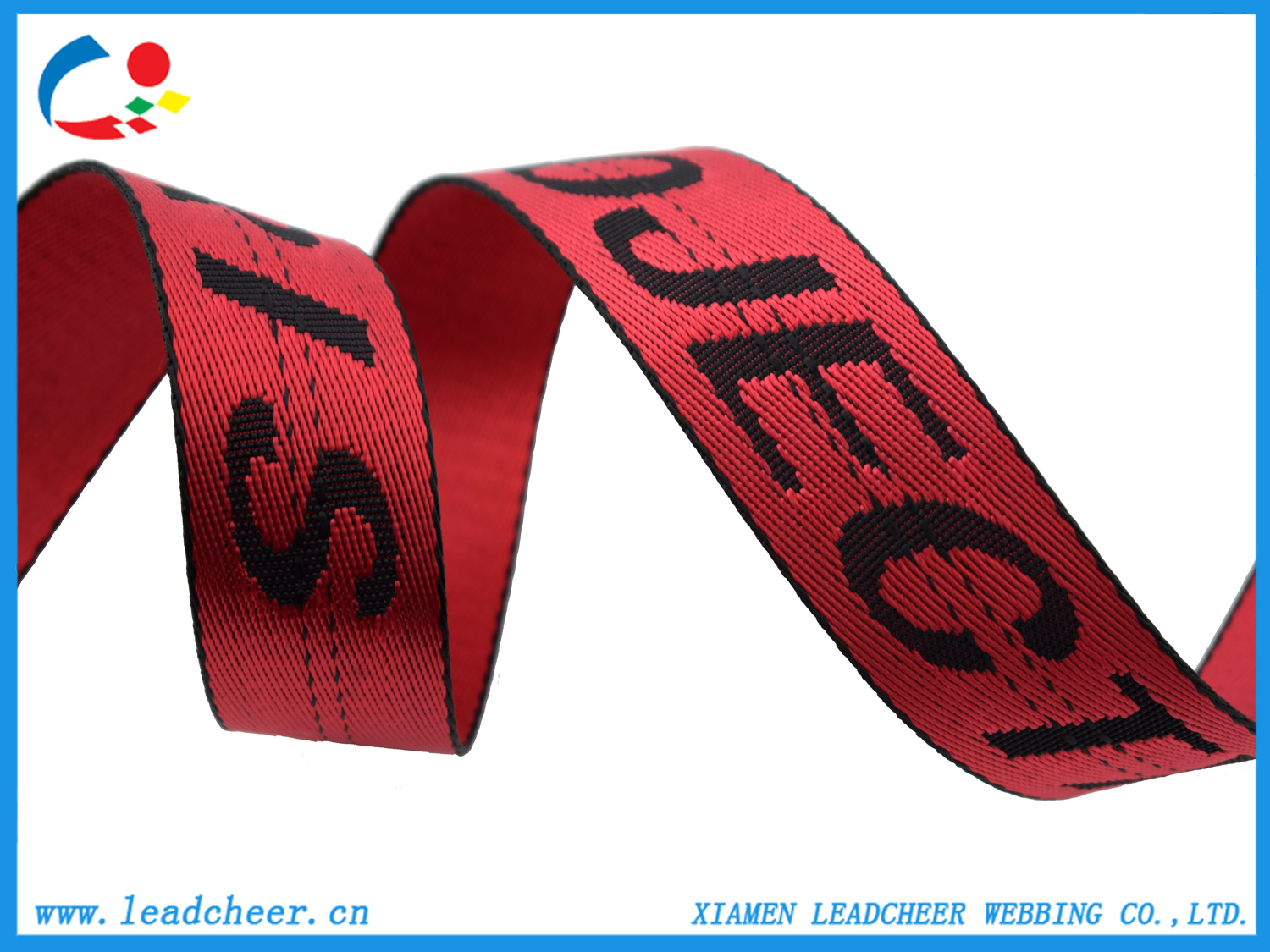 nylon webbing with jacquard logos
