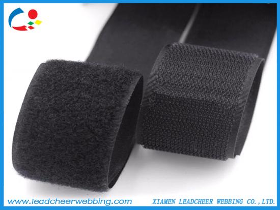 black nylon polyester hook and loop